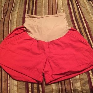 Oh Baby by Motherhood Shorts - Oh Baby Motherhood maternity coral shorts size L